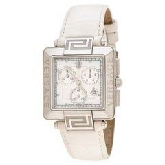 Versace Whitel Reve Carre 88Q Chronograph Women's Wristwatch 36 mm