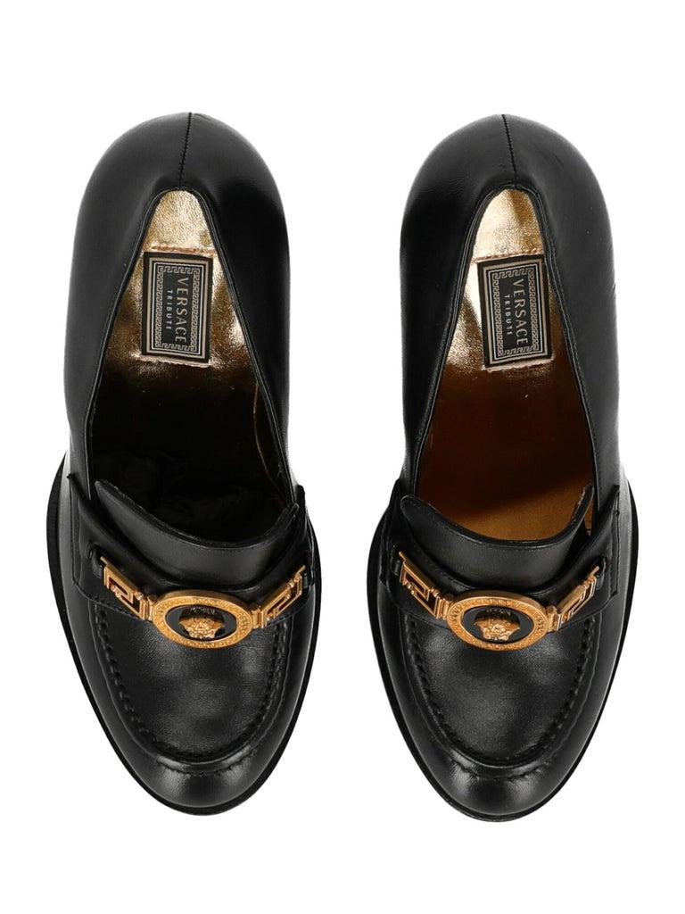 Versace Woman Loafers Black EU 36 1