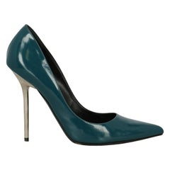 Versace Woman Pumps Green Leather IT 41