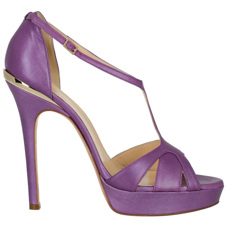 Versace Woman Sandals Purple IT 41 For Sale