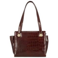 Versace Woman Shoulder bag Brown Leather