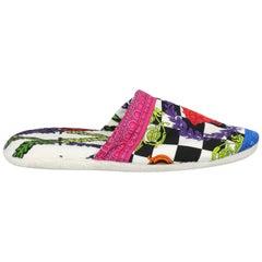 Versace Woman Slippers Multicolor Cotton IT 39