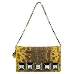 Versace  Women   Handbags  Brown, Yellow Leather