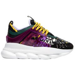 "Versace X 2 Chainz ""Mega Mix"" Print Multicolored Chain Reaction Sneakers SZ 36.5"