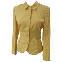 Versace yellow cotton jacket