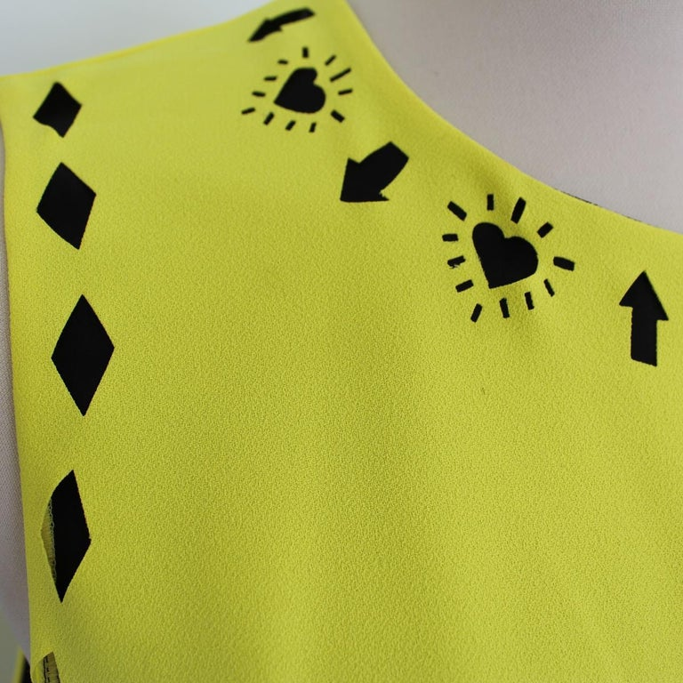 Versace Yellow Dress IT 42 In Excellent Condition For Sale In Gazzaniga (BG), IT