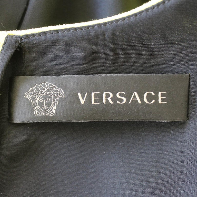 Versace Yellow Dress IT 42 For Sale 1