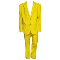 VERSACE YELLOW TAILOR MADE 2pc SUIT 58 - 48 (4XL)