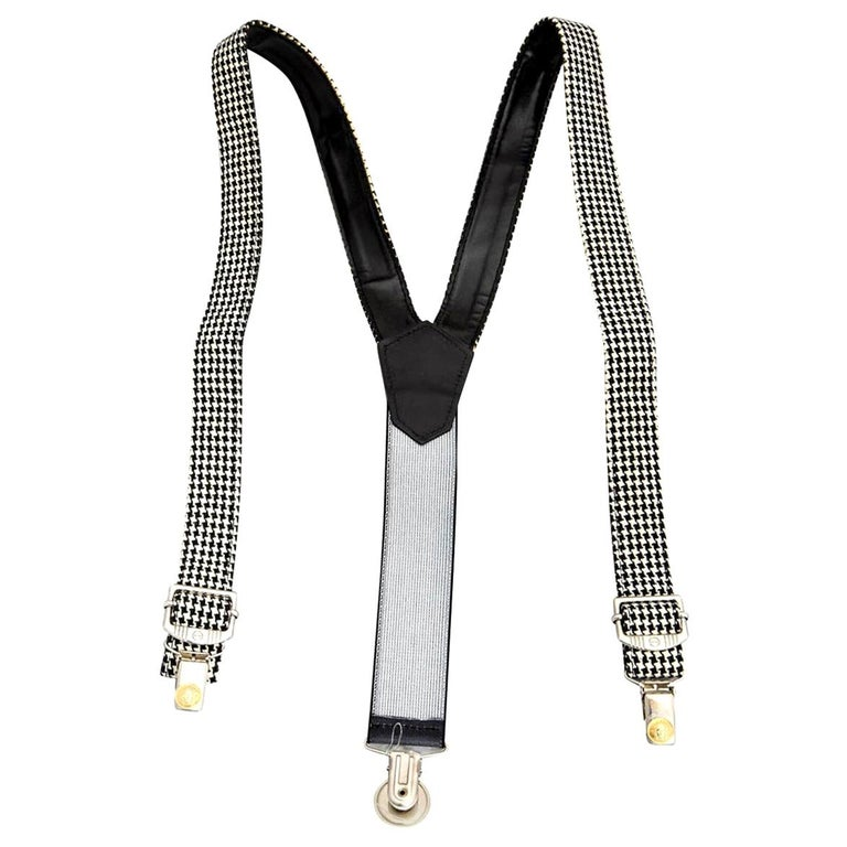 Versace Young Suspenders with Medusa Motifs For Sale