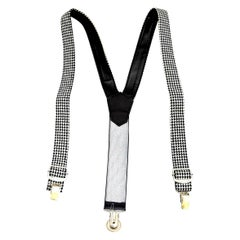 Versace Young Suspenders with Medusa Motifs