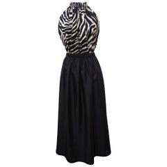 Versace Zebra Long Dress IT 40