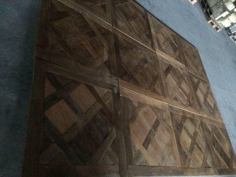 Hand-Crafted Versailles Antique Wood Oak Flooring 'Panels', Paris, France For Sale