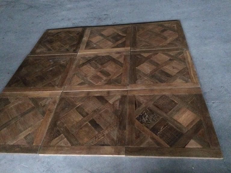 18th Century and Earlier Versailles Antique Wood Oak Flooring 'Panels', Paris, France For Sale