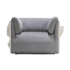 Versailles Armchair in Grey Velvet