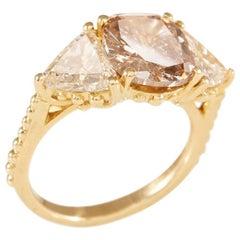 18 Carat Yellow Gold Diamond Trio Ring