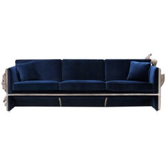 Versailles Sofa in Royal Blue Velvet