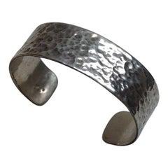 Versani Hammered Texture Sterling Silver Cuff Bracelet