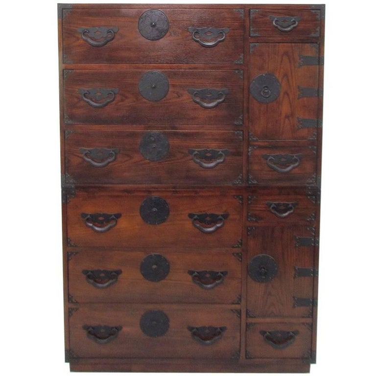 Versatile Pair of Tansu Chests by Baker Furniture, circa 1960s