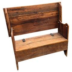 Versatile Rustic Antique Table Hutch Bench