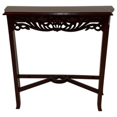 Versatile Small Lovely Carved Mahogany Console Table