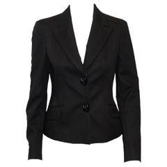 Versatile Versace Fitted Black Jacket With Peak Lapels 42 EU