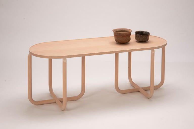 Minimalist Verso Coffee Table, Beechwood For Sale
