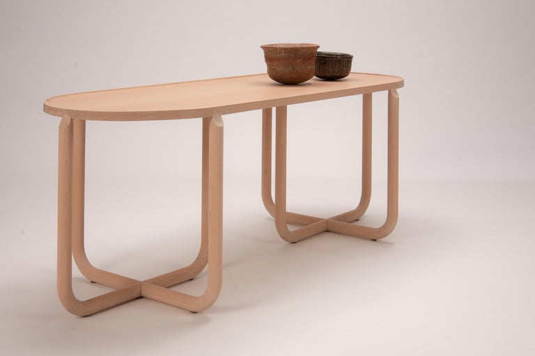 North American Verso Coffee Table, Beechwood For Sale