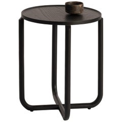 Verso Side Table, Blackened Wood