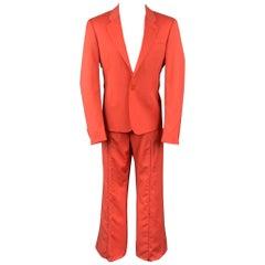 VERSUS by GIANNI VERSACE Size 40 Coral Virgin Wool Notch Lapel Suit