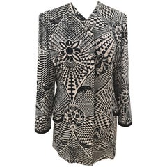 Versus by Versace Black and White viscose blazer / jacket