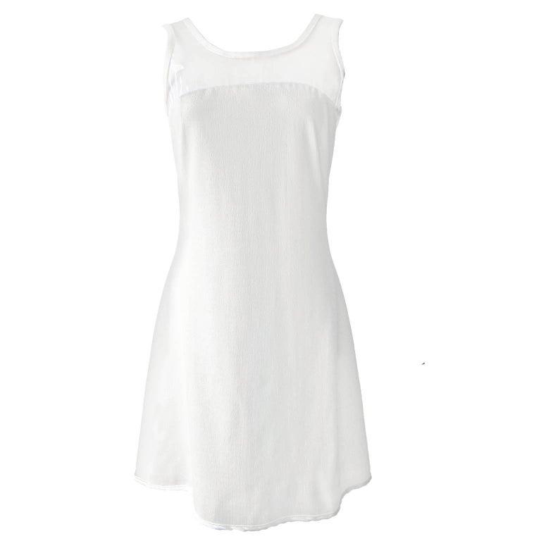 Versus Gianni Versace Clear Vinyl White Dress