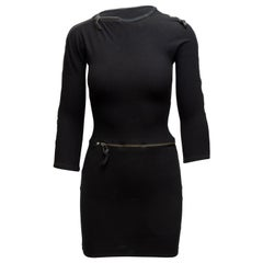 Versus Versace Black Zipper Mini Dress