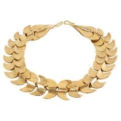 Vertebrae, Gilded Bronze Necklace, Line Vautrin 'France'