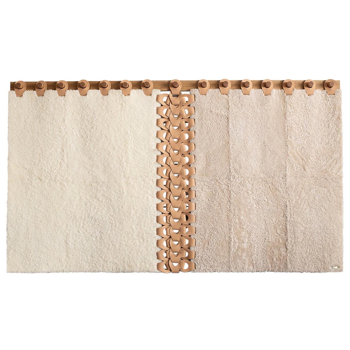 "Vertebrae X Headboard Tapestry 72"" in Soft Neutrals by Moses Nadel"