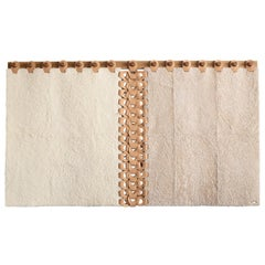 Vertebrae Wall Tapestry X by Moses Nadel in Soft Neutrals
