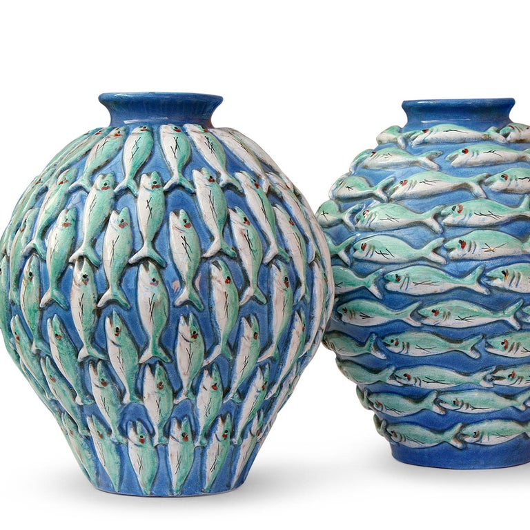 Contemporary Vertical Fish Vase by Ceccarelli For Sale