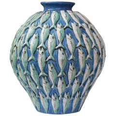 Vertical Fish Vase by Ceccarelli
