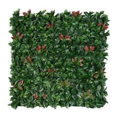 Vertical Garden Photinia, Artificial Greenery, Indoor and Outdoor Use, Italy