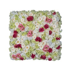 Vertical Garden Rose Flower Wall, Artificial Greenery, Indoor Use, Italy