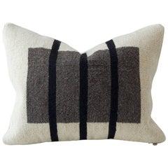 Vertical Stripe Flat-Weave Textile Cushion