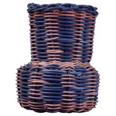 Vertical Stripe Woven Mini Vase