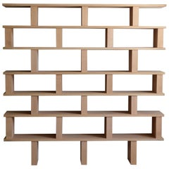 'Verticale' Polished Oak Shelving Unit by Design Frères