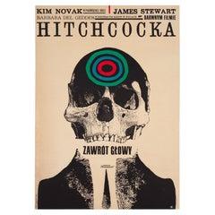 Vertigo 1963 Polish A1 Film Movie Poster, Cieslewicz, Linen Backed