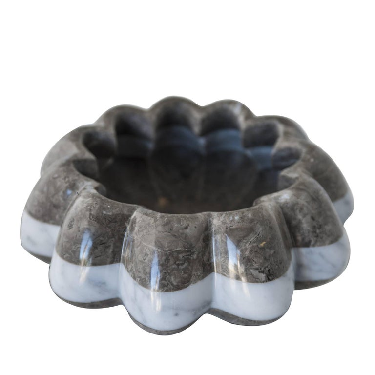 Vertigo Grey Marble Bowl