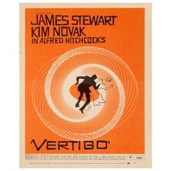 'Vertigo' Original Vintage US Window Card Movie Poster, 1958