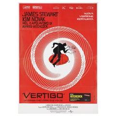 'Vertigo' R2019 Italian Due Fogli Film Poster