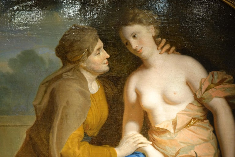 Vertumnus and Pomona , Oil on Canvas Attributed to F.A. Verdier  For Sale 5