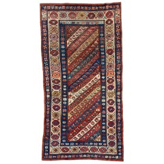 Very Beautiful Antique Caucasian Bayader Kazak Runner