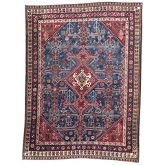 Very Beautiful Antique Hand Knotted Ghashghai Style Rug