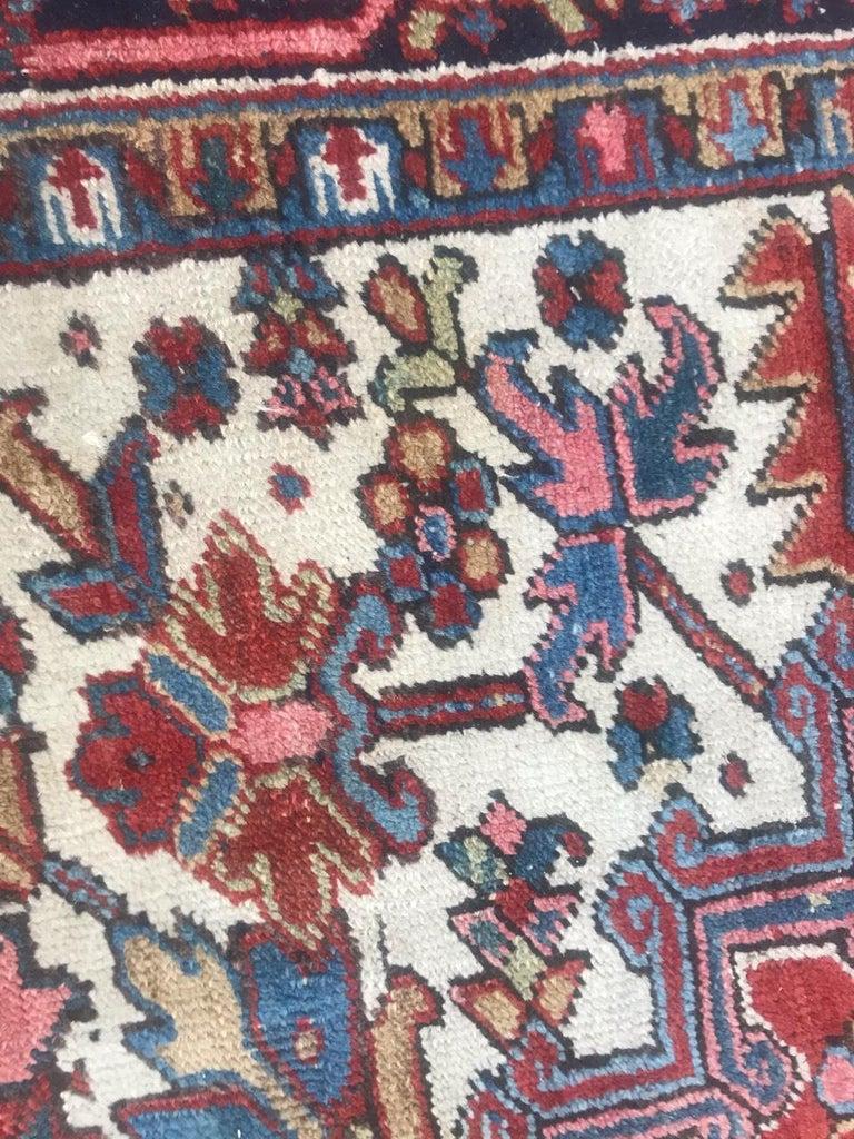 Very Beautiful Antique Heriz Rug For Sale 4